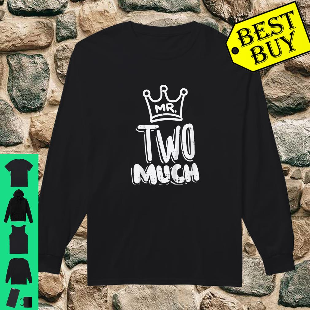 Kids Mr Two Much Fun Second 2nd Birthday Party Toddler Boys Shirt long sleeved