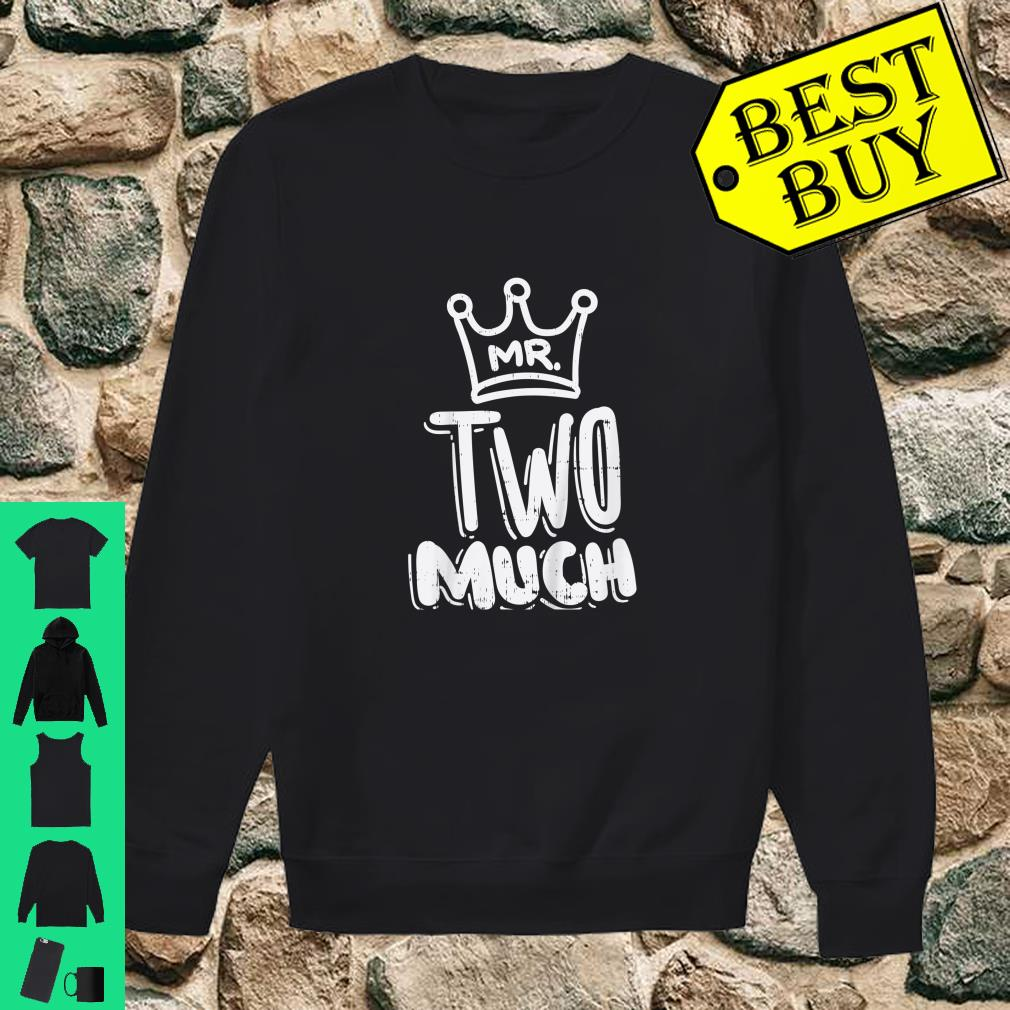 Kids Mr Two Much Fun Second 2nd Birthday Party Toddler Boys Shirt sweater