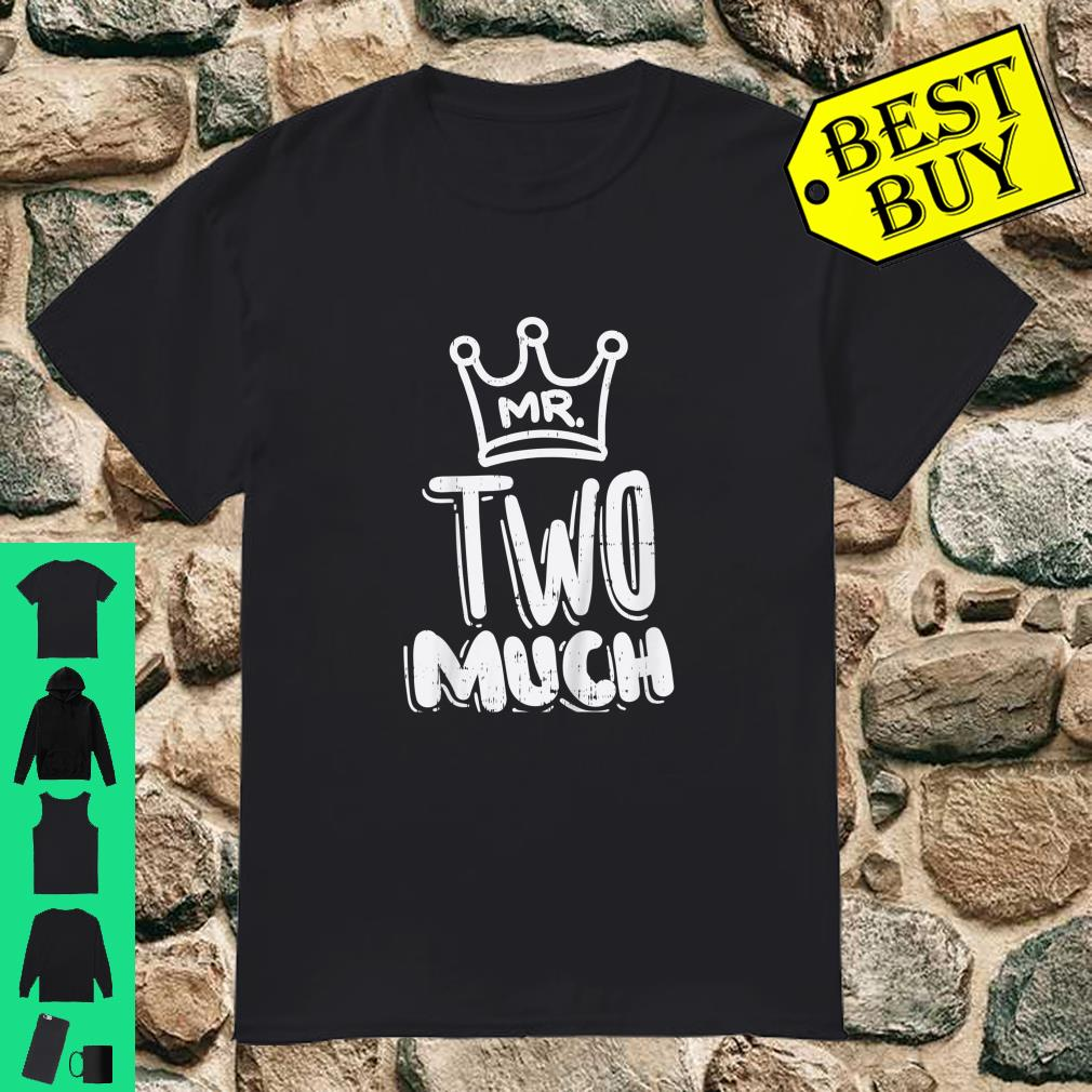 Kids Mr Two Much Fun Second 2nd Birthday Party Toddler Boys Shirt