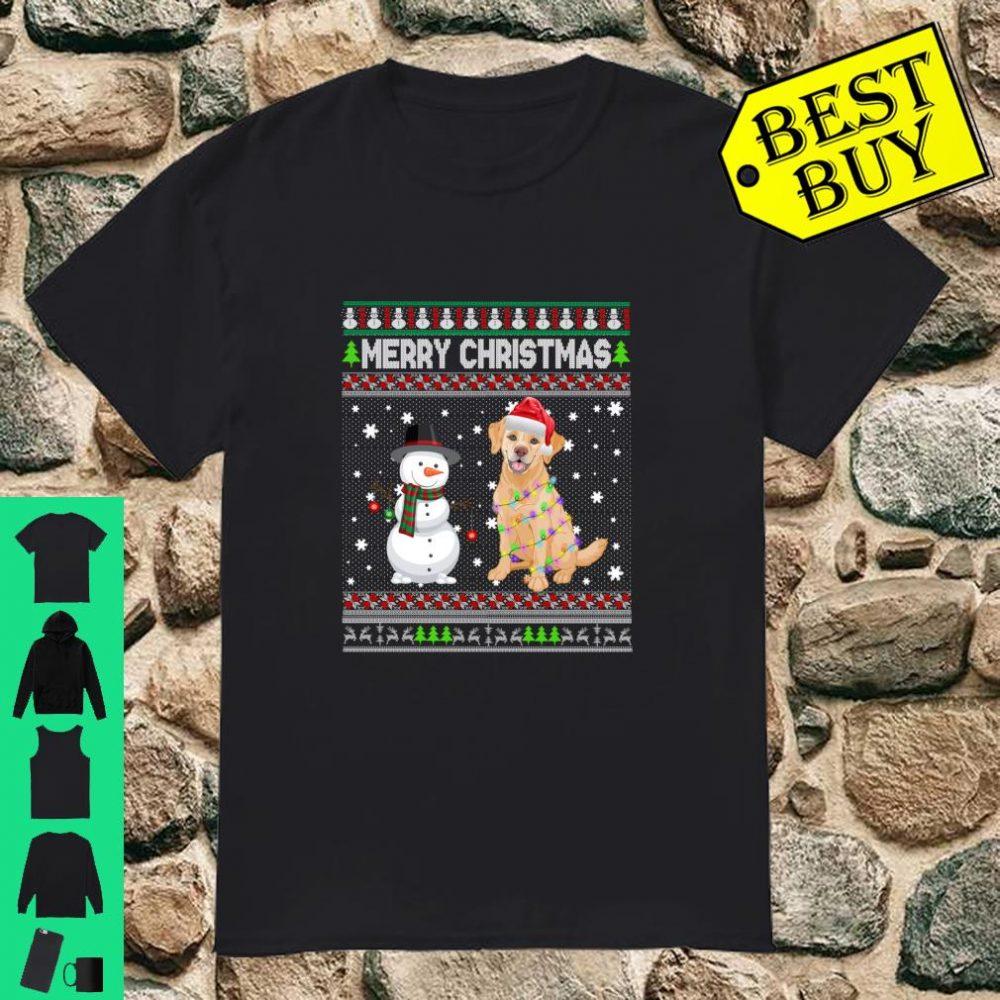 Labrador Dog Merry Christmas Costume shirt