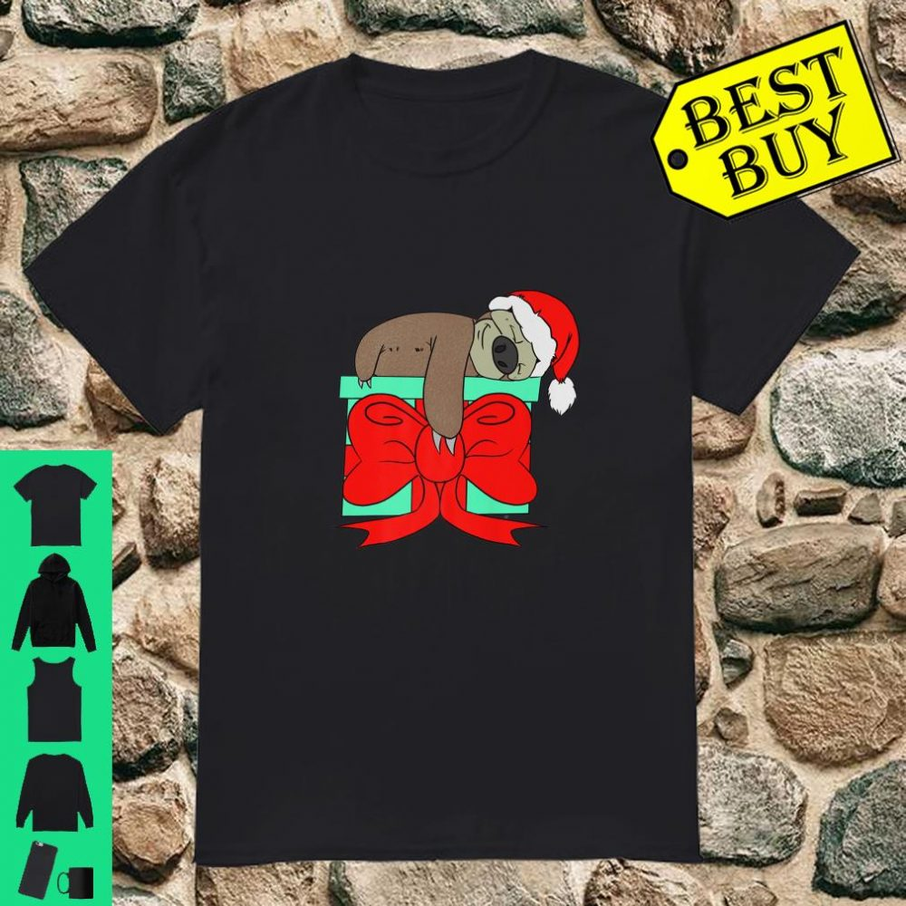 Lazy Christmas Sloth Cute funny love it shirt