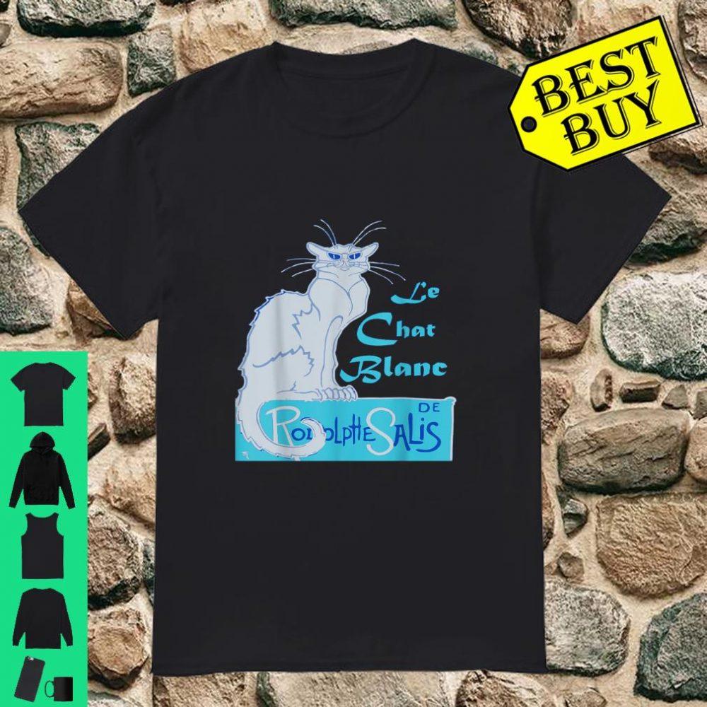 Le Chat Blanc A Le Char Noir Parody Vector shirt