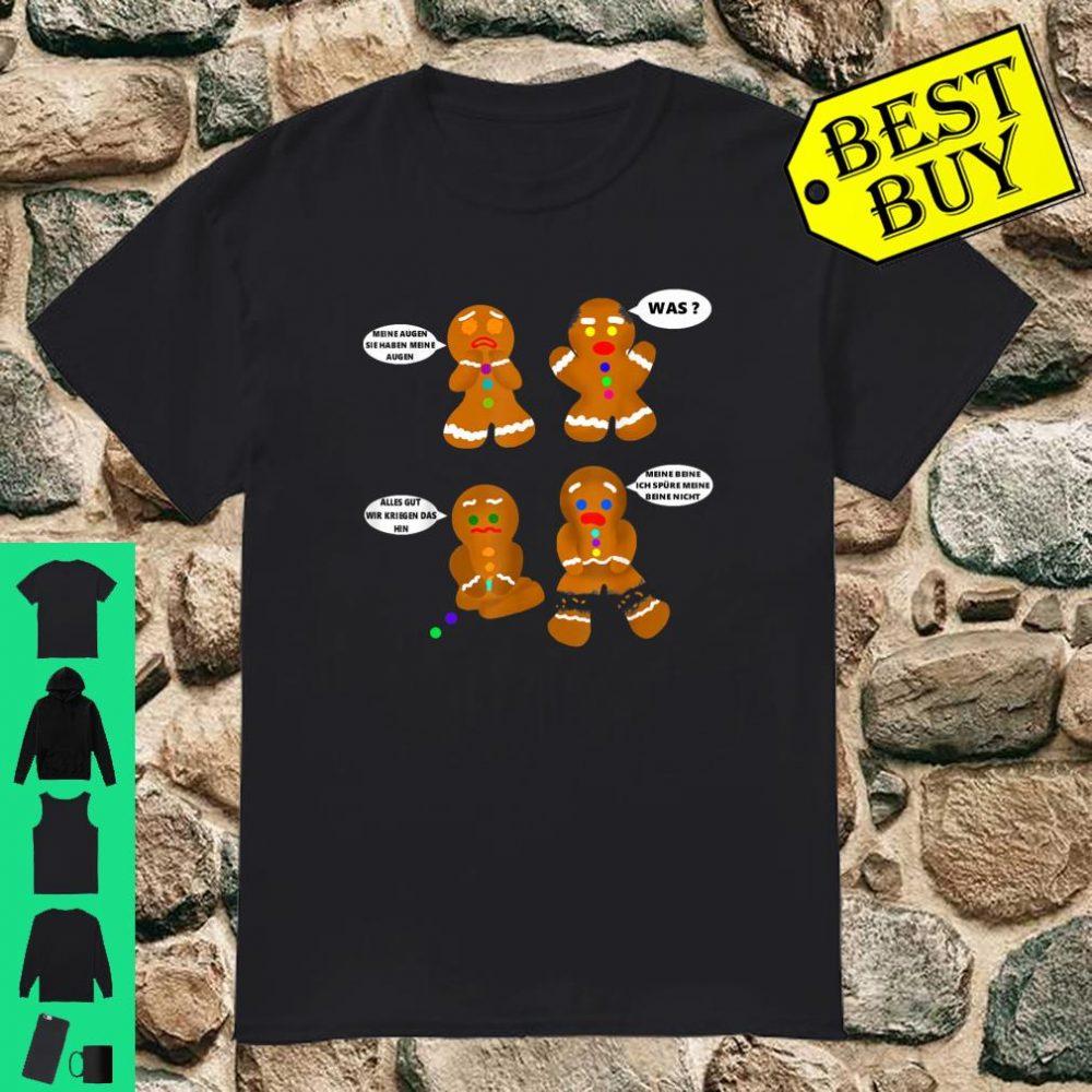 Lebkuchen Mann - zerbrochene sprechende süße Lebkuchen shirt
