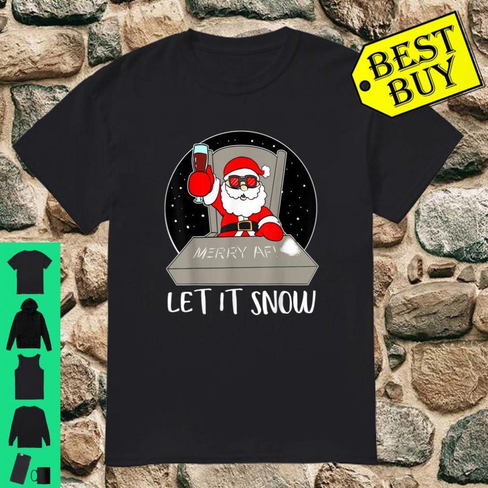 Let It Snow Cocaine Santa Adult Humor Christmas Santa shirt