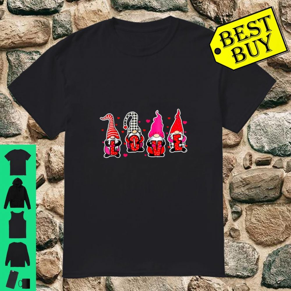 Love Gnome Valentines Couple Matching Cute Shirt