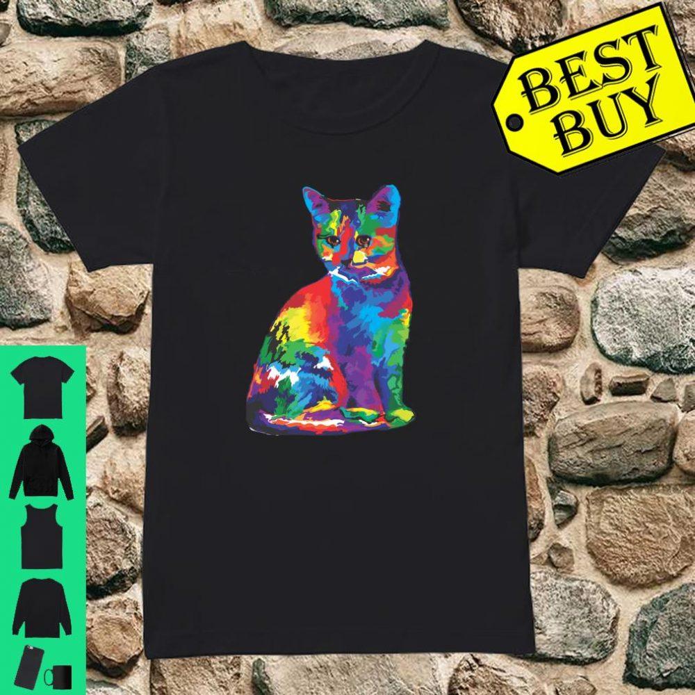 Magic Multicolor Cat shirt ladies tee