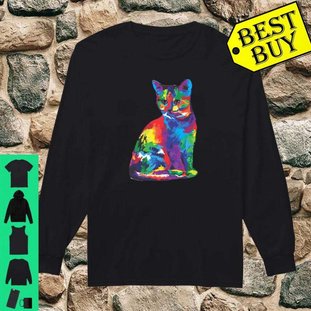 Magic Multicolor Cat shirt long sleeved