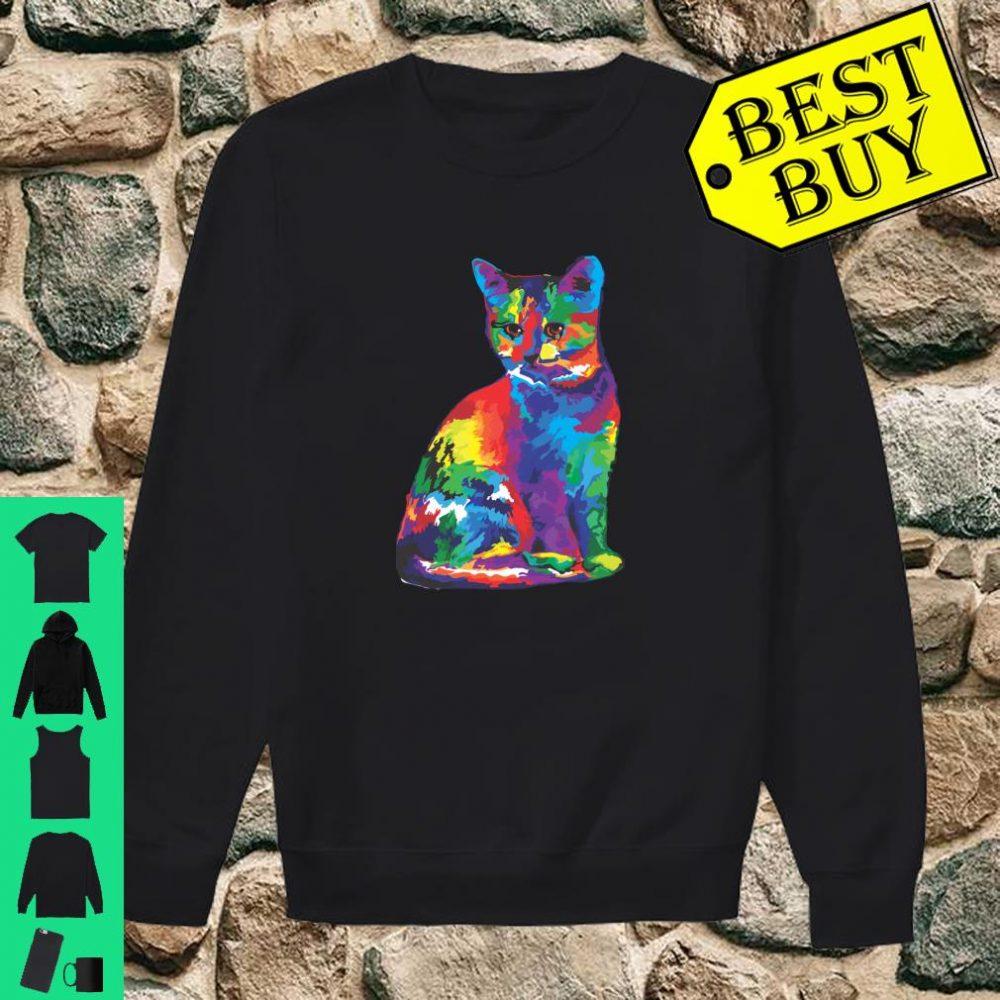 Magic Multicolor Cat shirt sweater