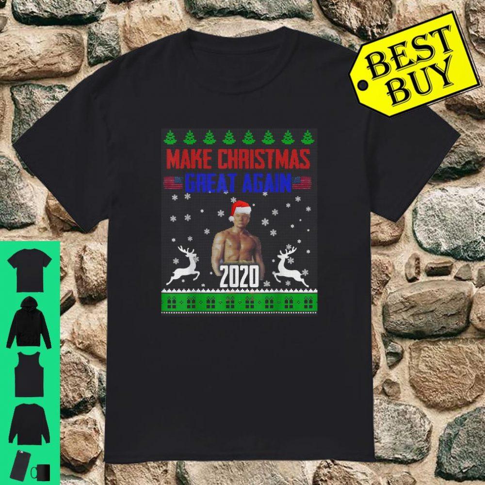 Make Christmas Great Again Boxer Trump X-mas USA Flag Cloth shirt