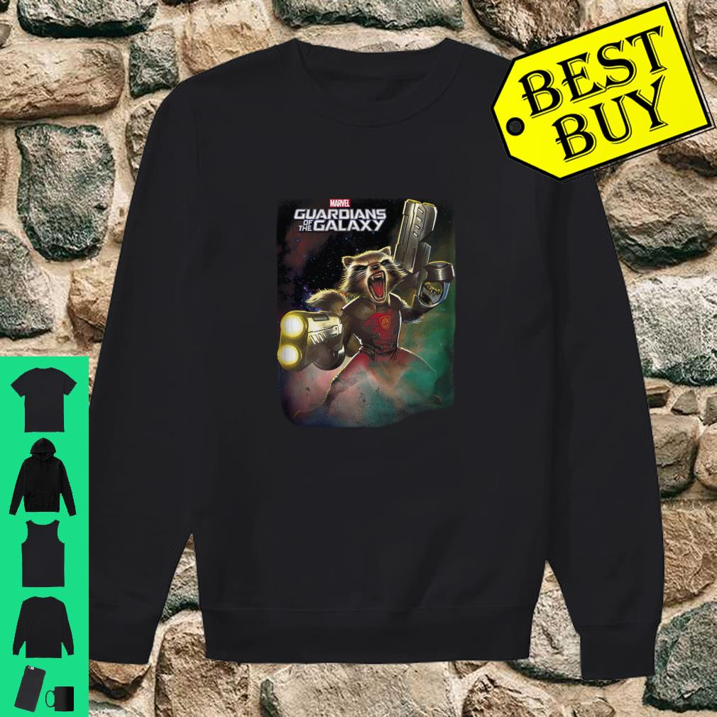 Marvel Guardians Of The Galaxy Angry Rocket Poster Langarmshirt Shirt sweater