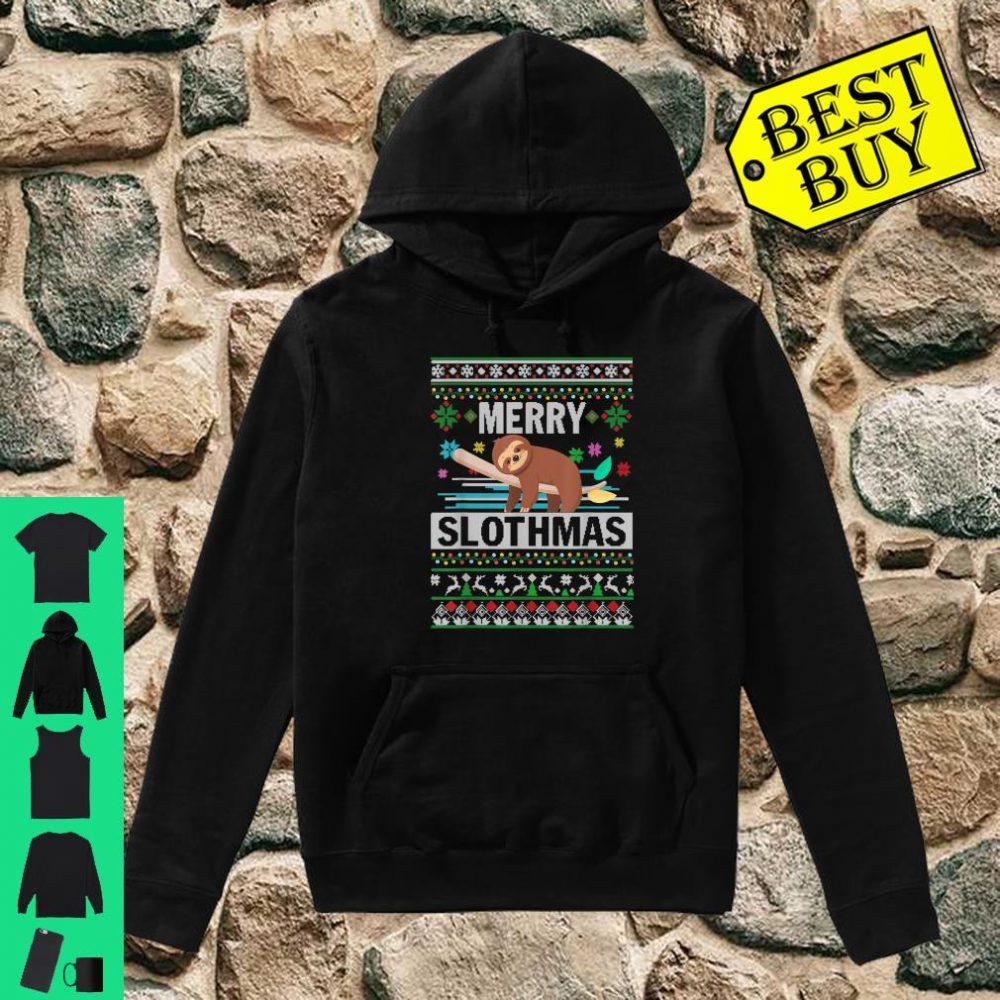 Merry Slothmas Sloth Ugly Christmas Cute Xmas shirt hoodie