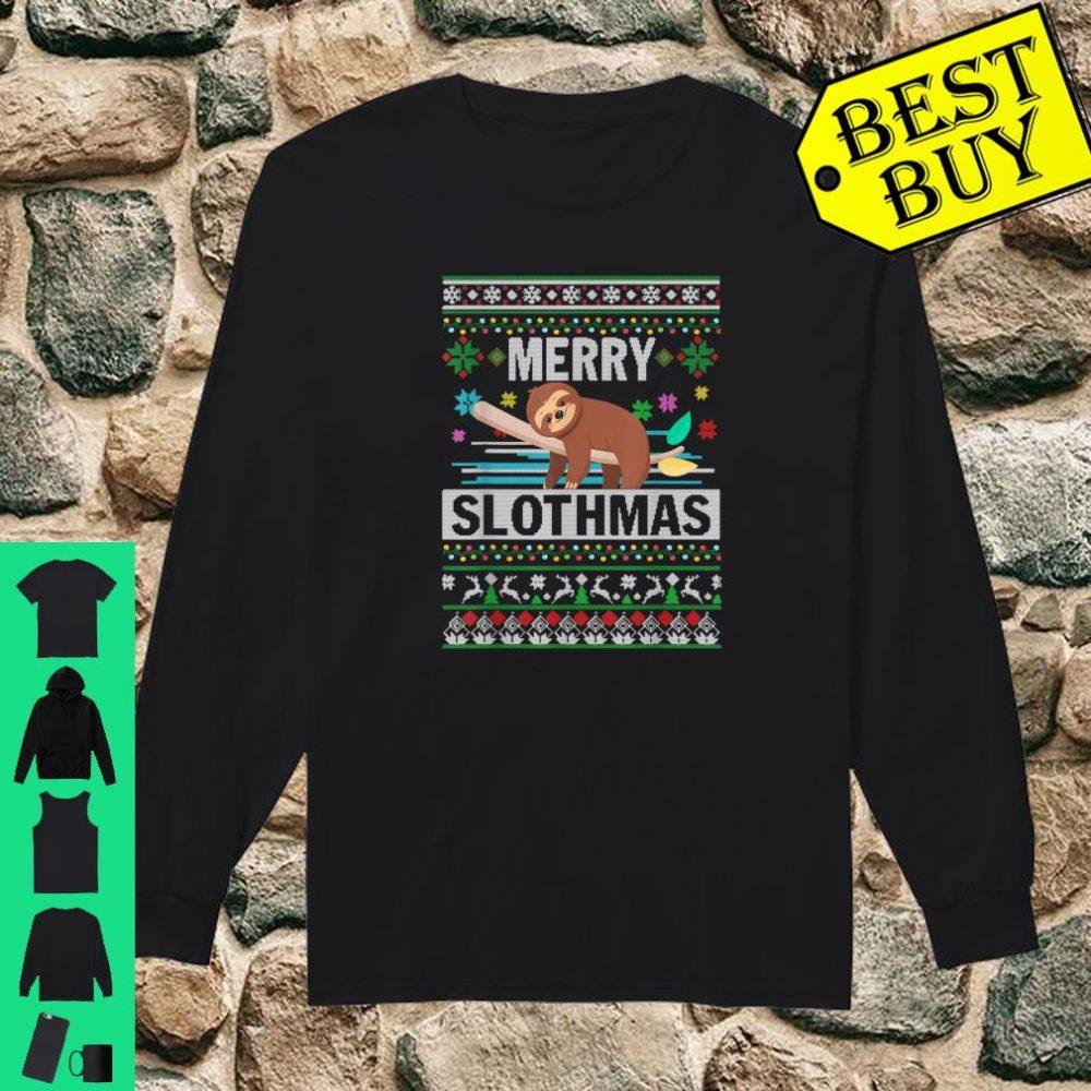 Merry Slothmas Sloth Ugly Christmas Cute Xmas shirt long sleeved