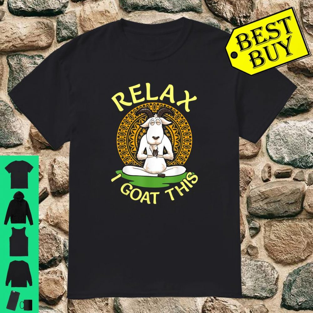 Namaste Goat In Relaxed Yoga Pose & Relaxation Workout shirt