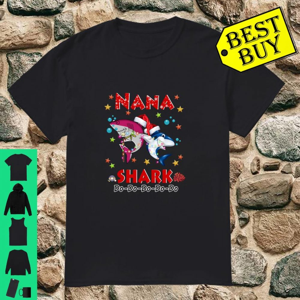 Nana Shark Do Do Do Santa Christmas Shirt