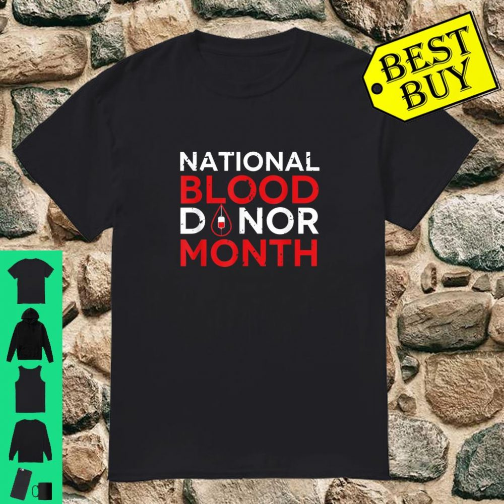 National Blood Donor Month 2020 shirt