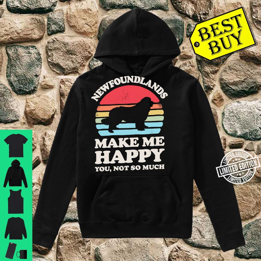 Newfoundlands Make Me Happy You Not So Much Vintage Shirt hoodie