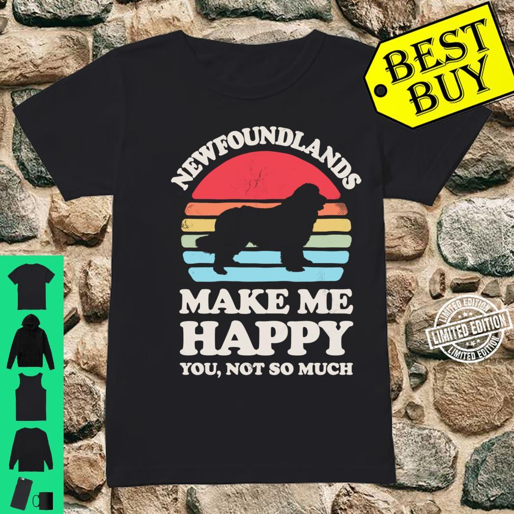 Newfoundlands Make Me Happy You Not So Much Vintage Shirt ladies tee