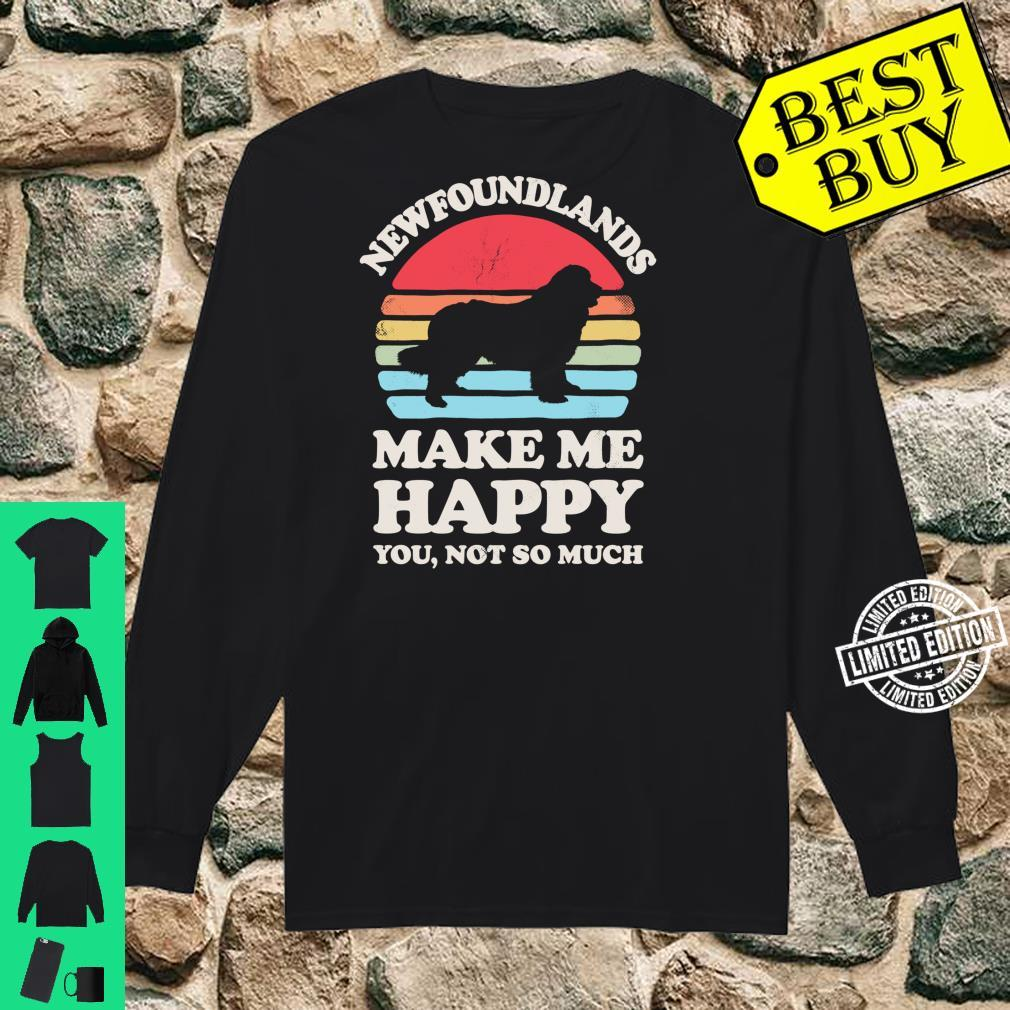Newfoundlands Make Me Happy You Not So Much Vintage Shirt long sleeved