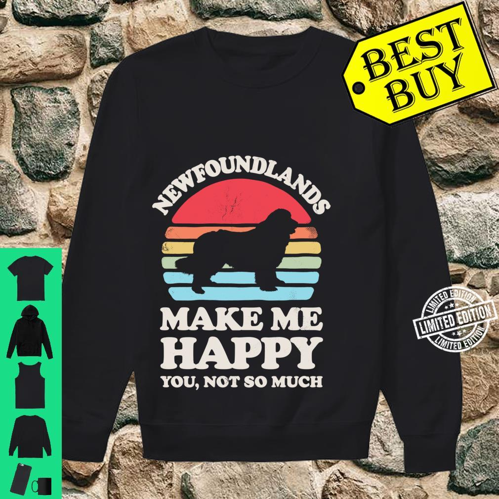 Newfoundlands Make Me Happy You Not So Much Vintage Shirt sweater