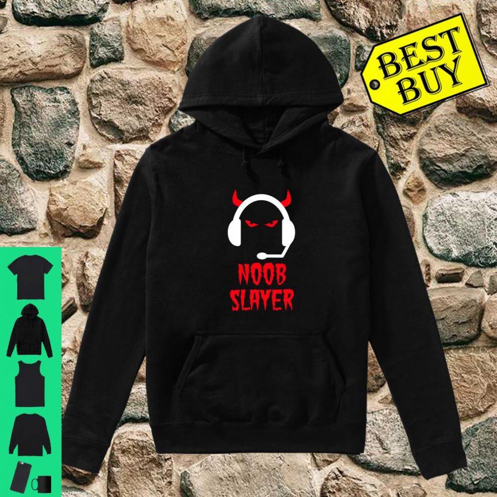 Noob Slayer Gamer Gaming Evil Eyes Horns Game Player shirt hoodie