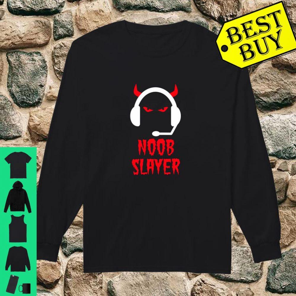 Noob Slayer Gamer Gaming Evil Eyes Horns Game Player shirt long sleeved