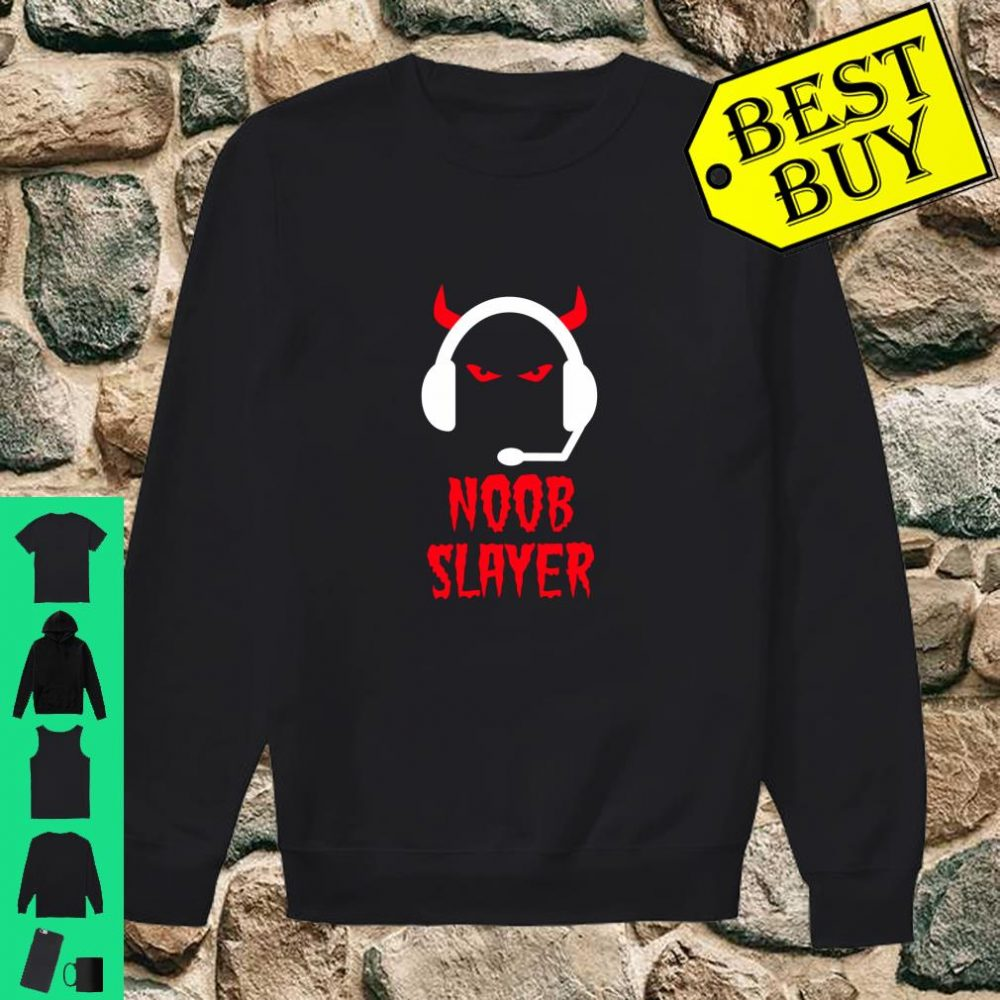 Noob Slayer Gamer Gaming Evil Eyes Horns Game Player shirt sweater