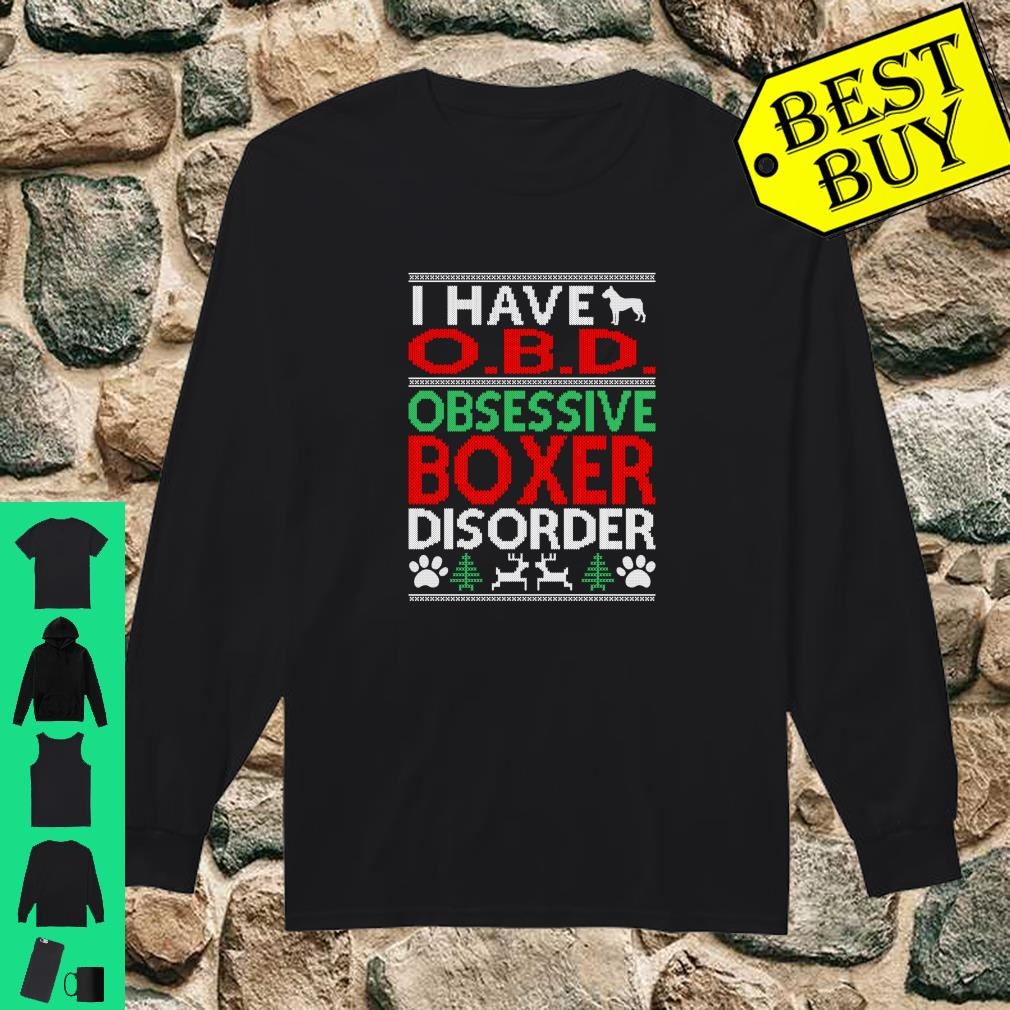 Obsessive Boxer Disorder Christmas Ugly Sweater O.B.D shirt long sleeved