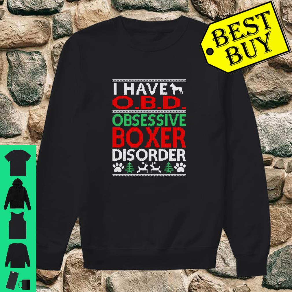 Obsessive Boxer Disorder Christmas Ugly Sweater O.B.D shirt sweater