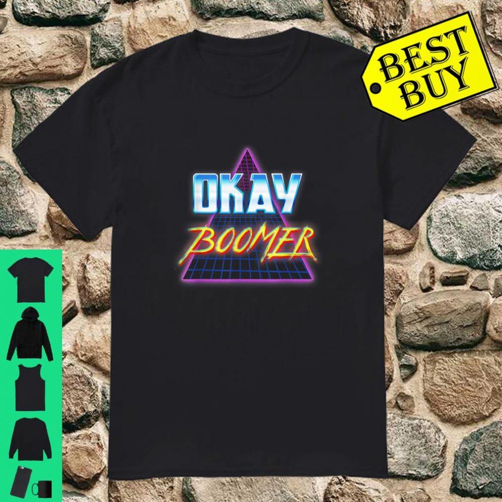 Okay Boomer Retro 80s Vaporwave Dank Meme shirt