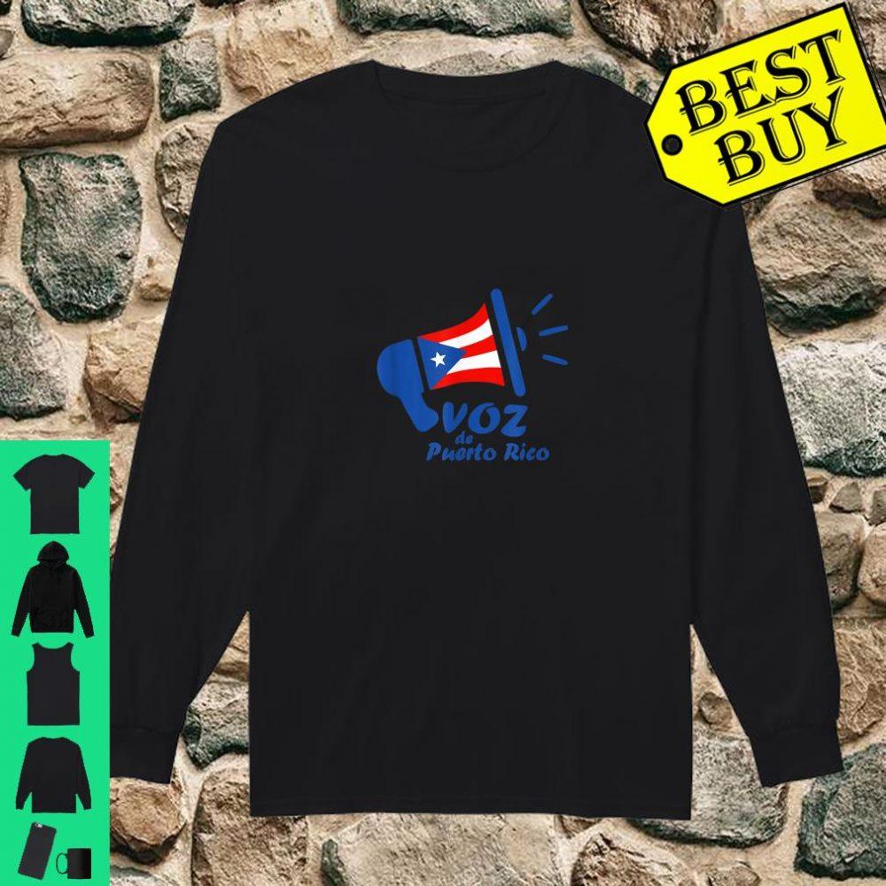 Original Voz de Puerto Rico Logo shirt long sleeved