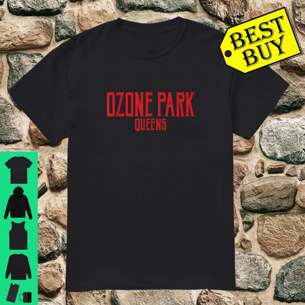Ozone Park Vintage Text Red Print Shirt