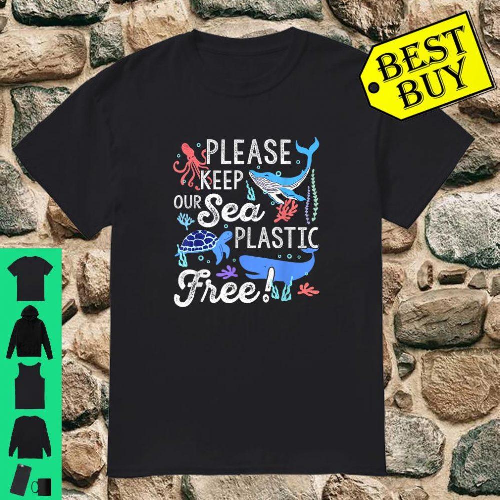 Please Keep Our Sea Plastic Free Whale Ocean Environment Shirt