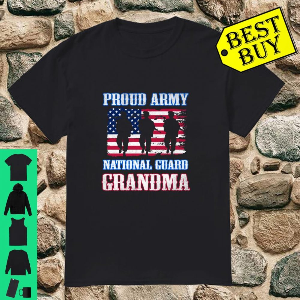 Proud Army National Guard Grandma Army Military Family shirt