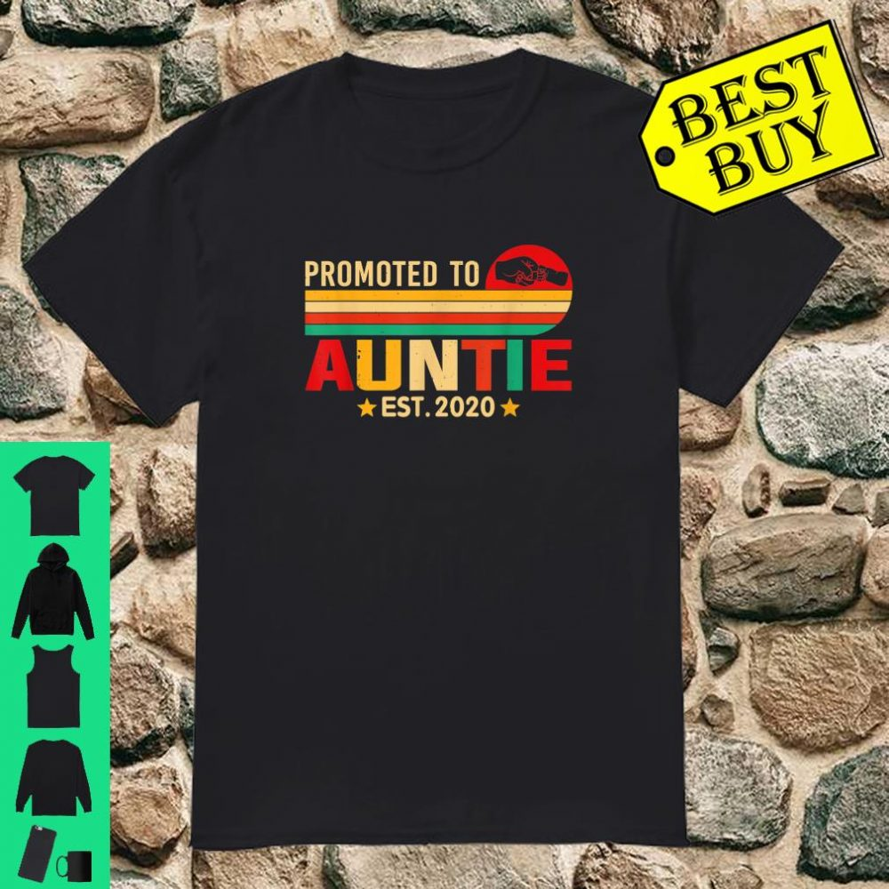 Retro Vintage Promoted To Auntie Est 2020 Mother Day shirt
