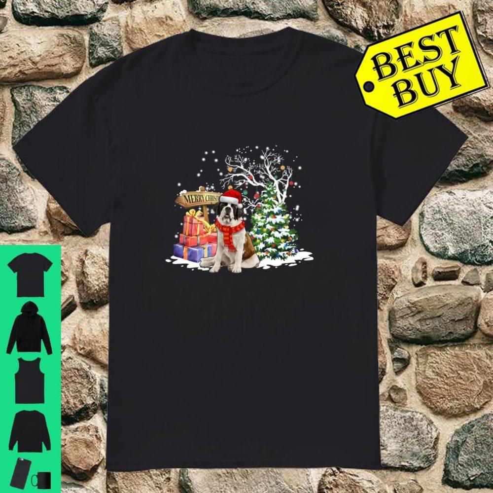 Saint Bernard Santa Christmas Dog Cute Xmas Gift shirt