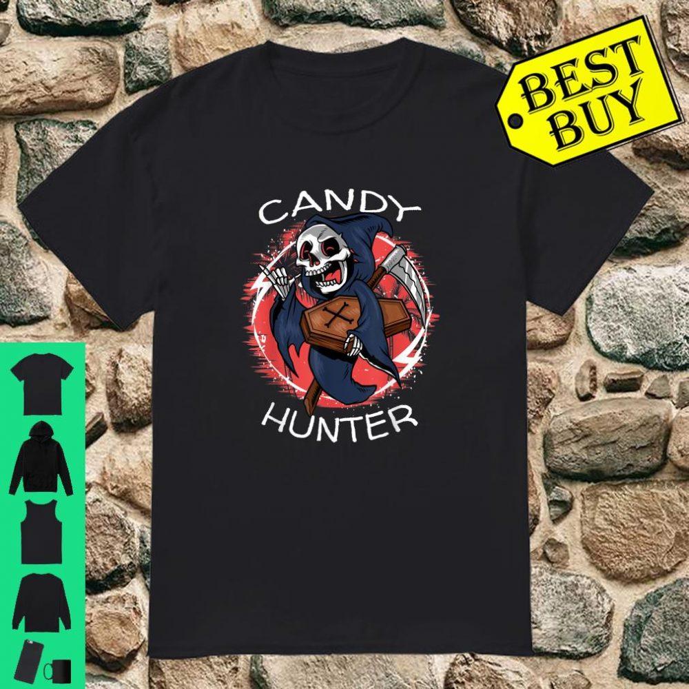 Scary Halloween Skeleton Candy Hunter shirt