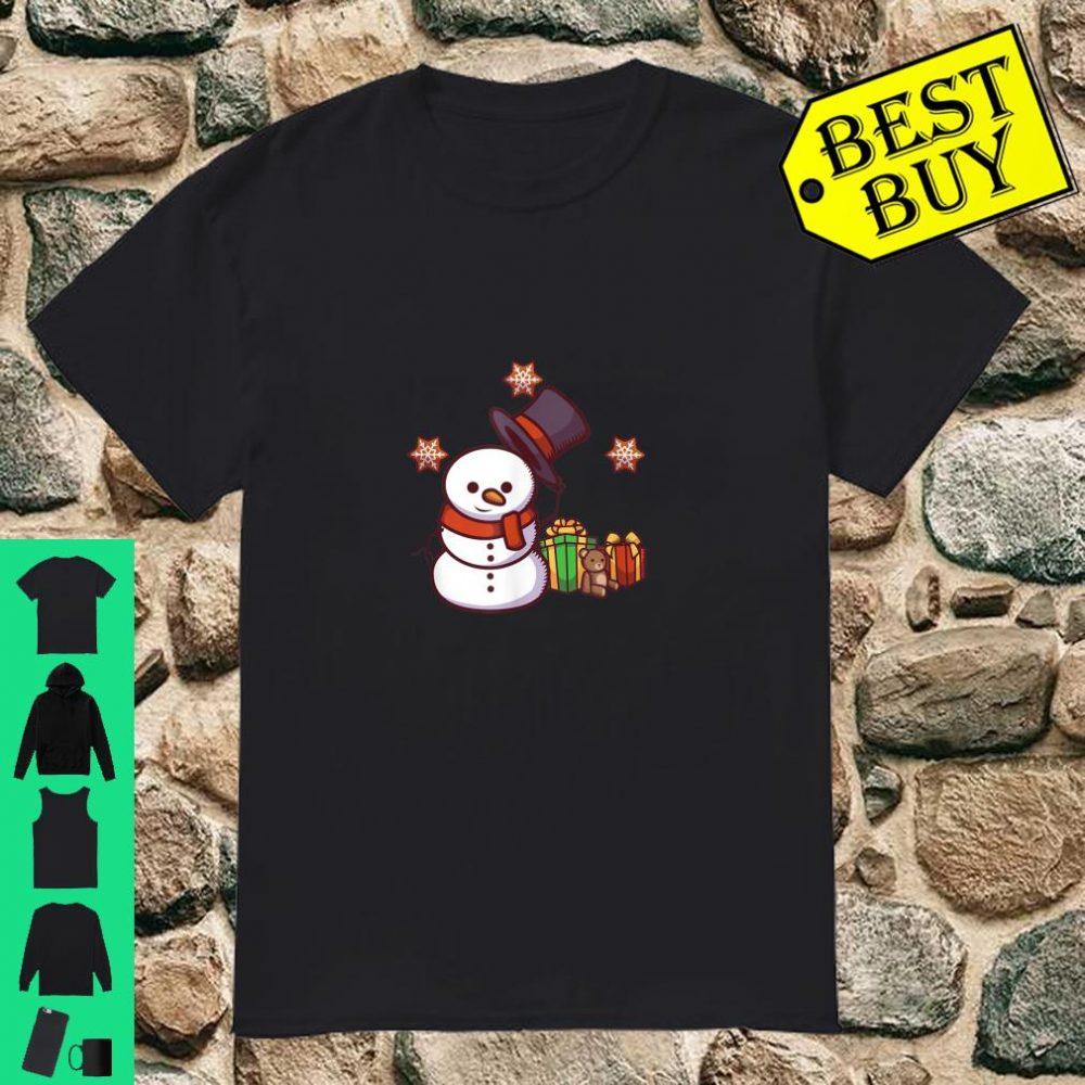 Schneemann mit Geschenken und Hut shirt