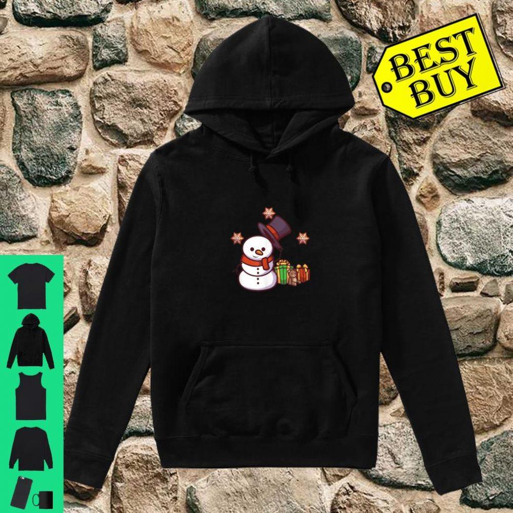 Schneemann mit Geschenken und Hut shirt hoodie