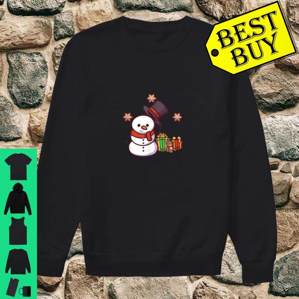 Schneemann mit Geschenken und Hut shirt sweater