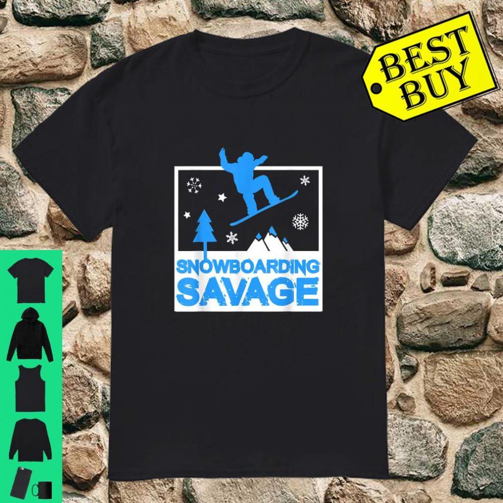 Snowboarding Savage Kids Cool Youth Freestyle Snowboard shirt