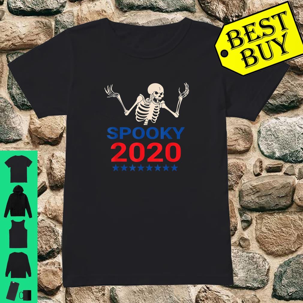 Spooky Scary Skeleton For Pressident 2020 Election shirt ladies tee