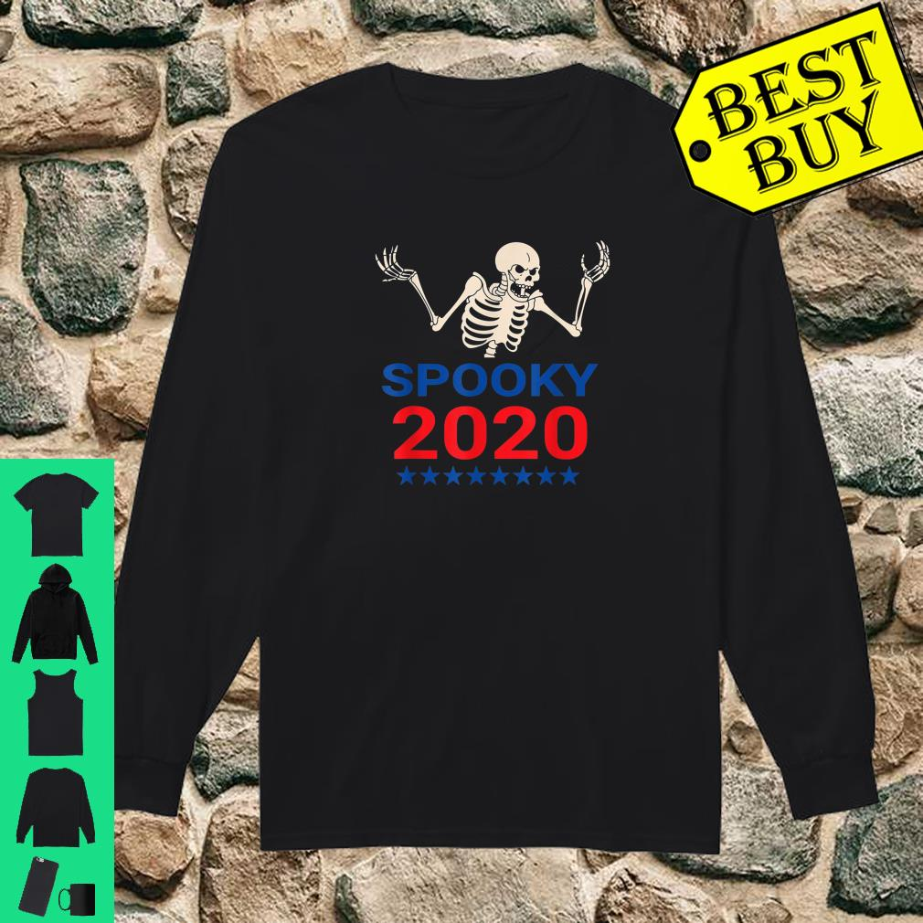 Spooky Scary Skeleton For Pressident 2020 Election shirt long sleeved