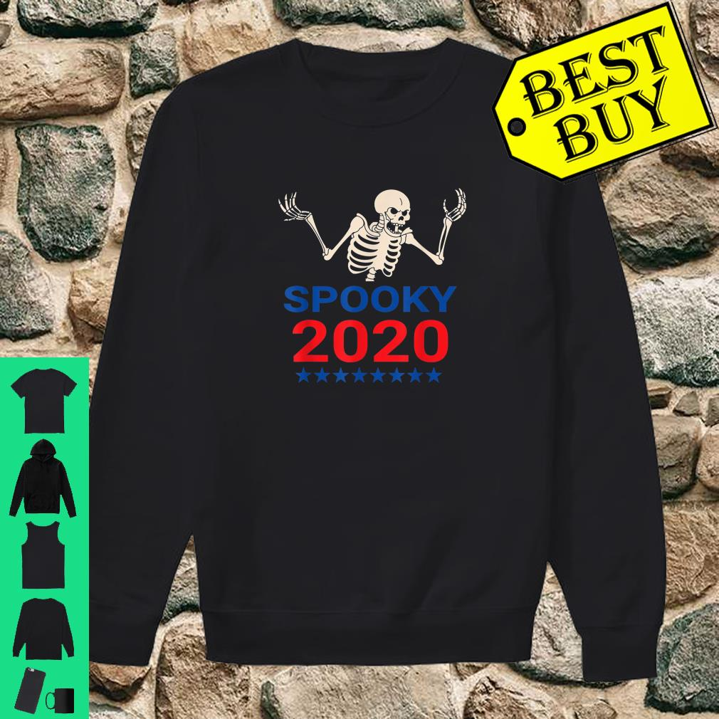 Spooky Scary Skeleton For Pressident 2020 Election shirt sweater