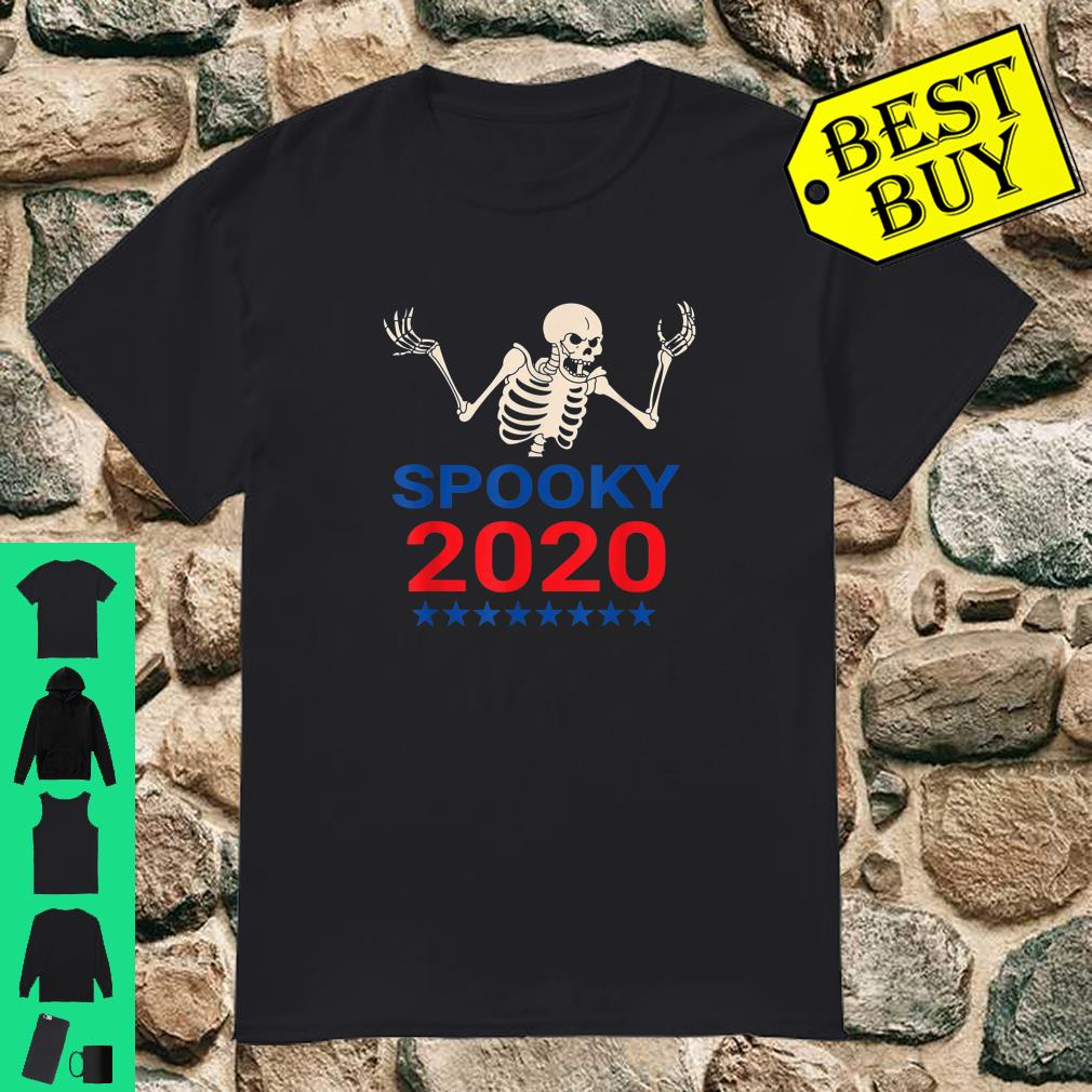 Spooky Scary Skeleton For Pressident 2020 Election shirt