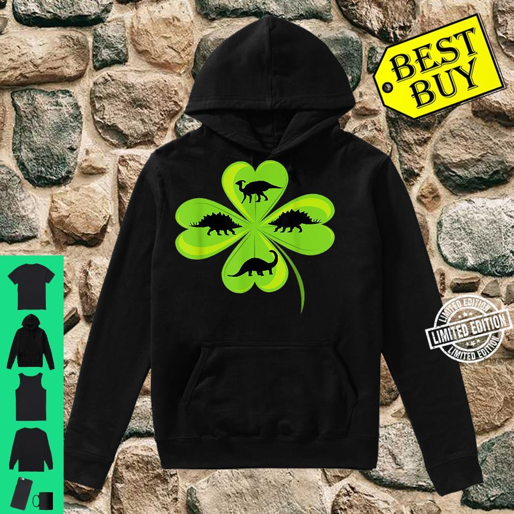 St. Patrick's Day Celebration Clover Herbivorous Dinosaurs Shirt hoodie