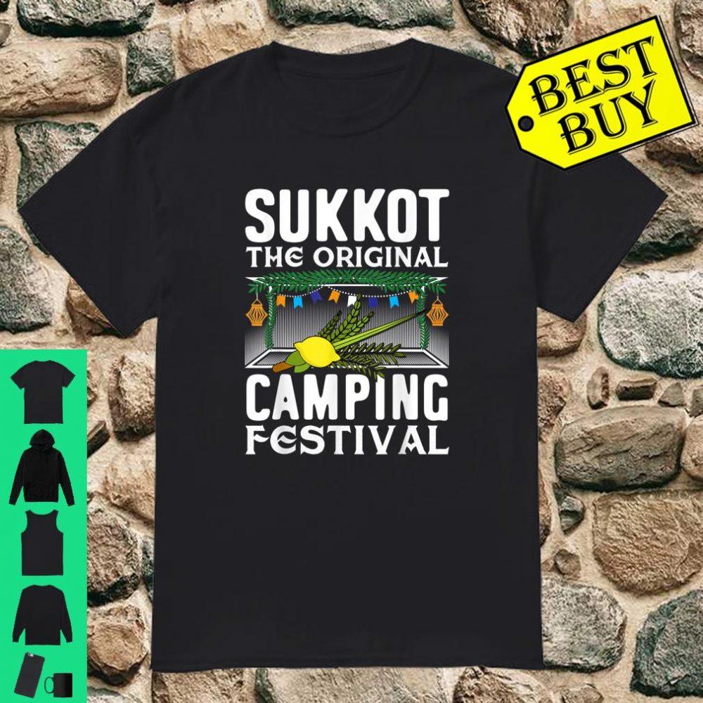 Sukkot The Original Camping Festival Sukkah Jewish Holiday shirt