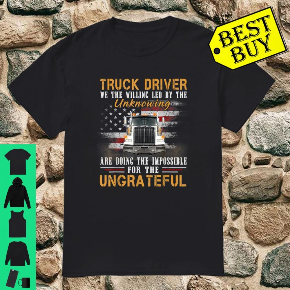 Truck Driver Shirt U.S Flag for Father Day Shirt