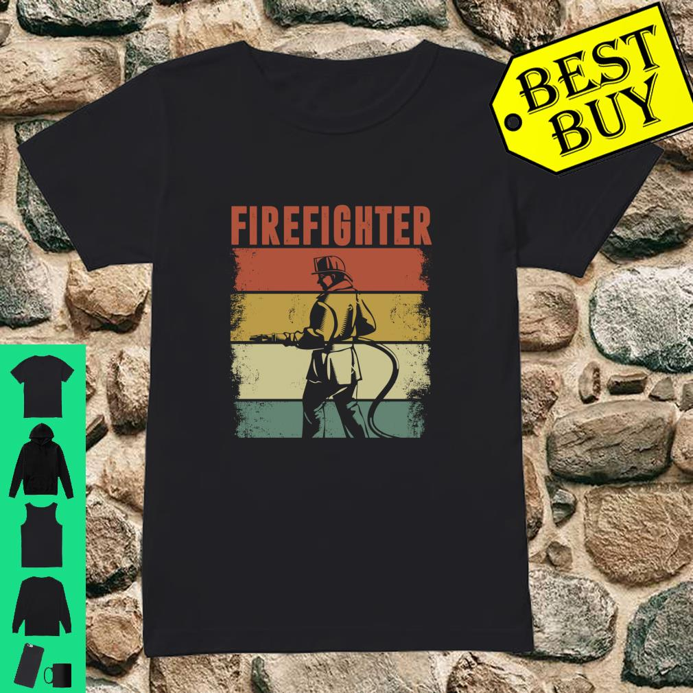 Vintage Retro Firefighter Apparel shirt ladies tee