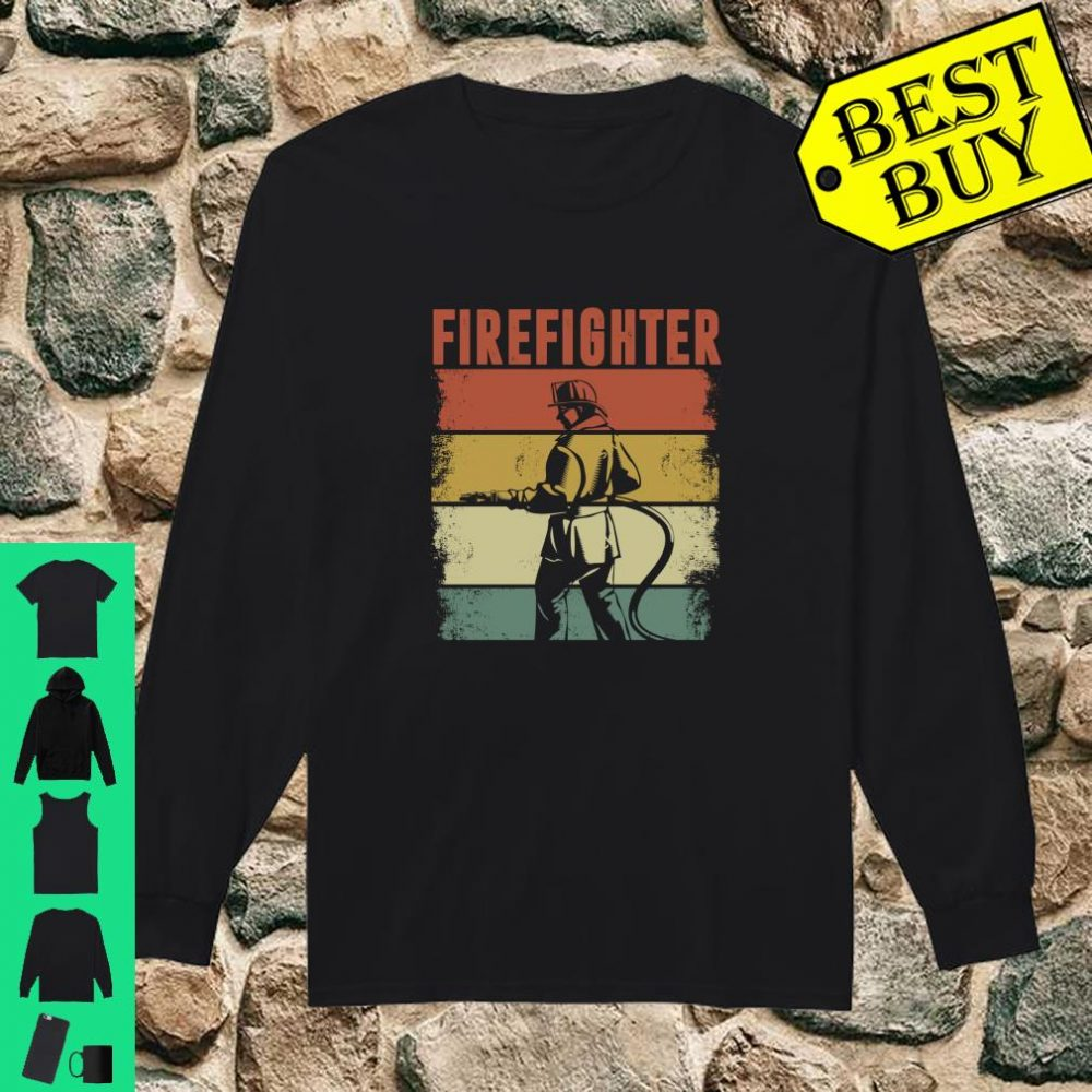 Vintage Retro Firefighter Apparel shirt long sleeved