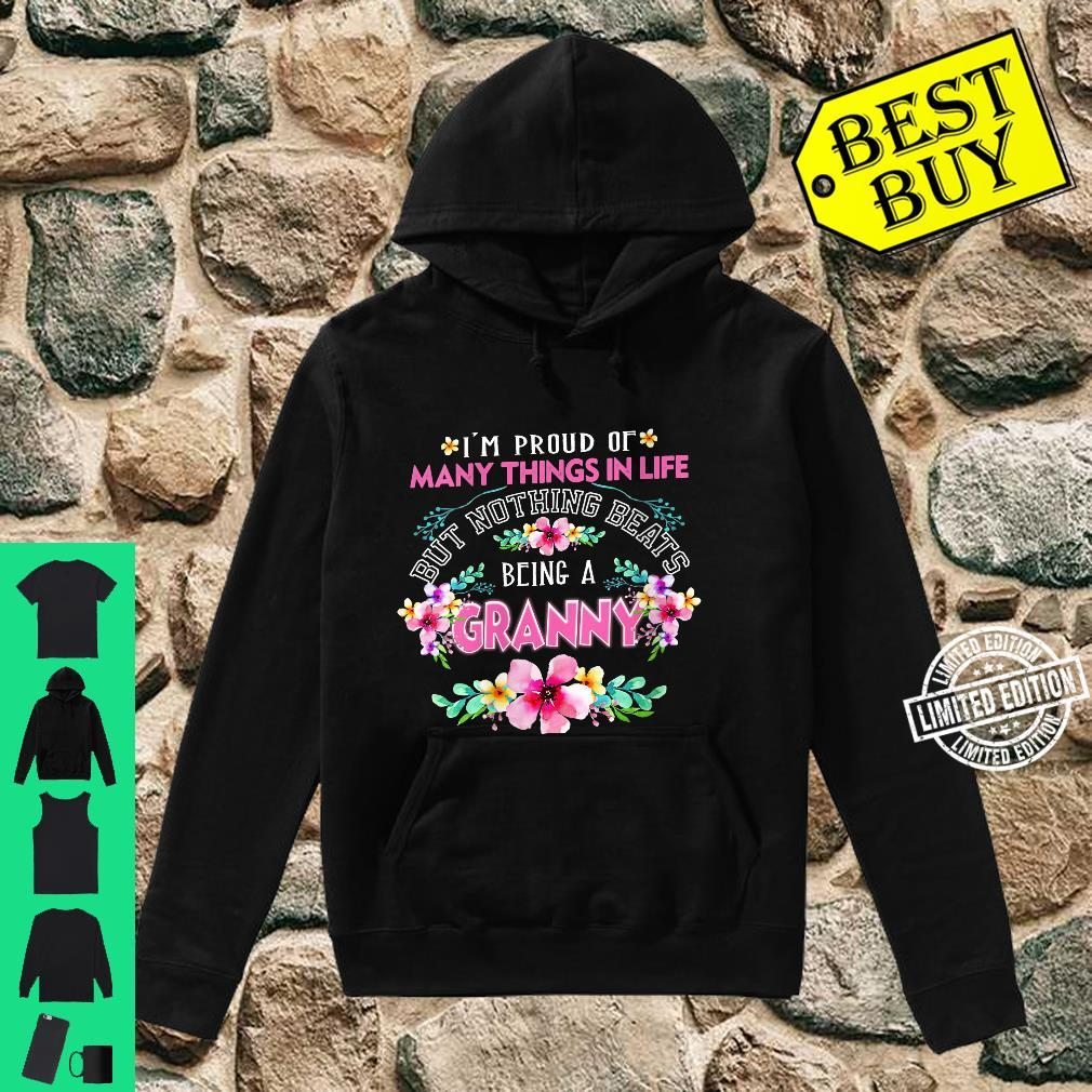 Womens I'm Proud Of Many Things But Nothing Beats Being A GRANNY Shirt hoodie